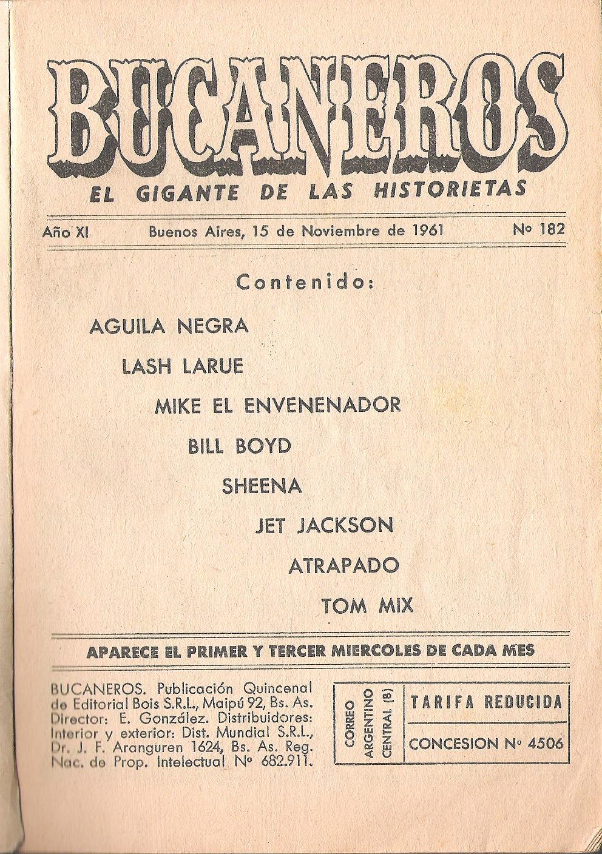 CONTENIDO Y EDITORIAL DEL BUCANEROS