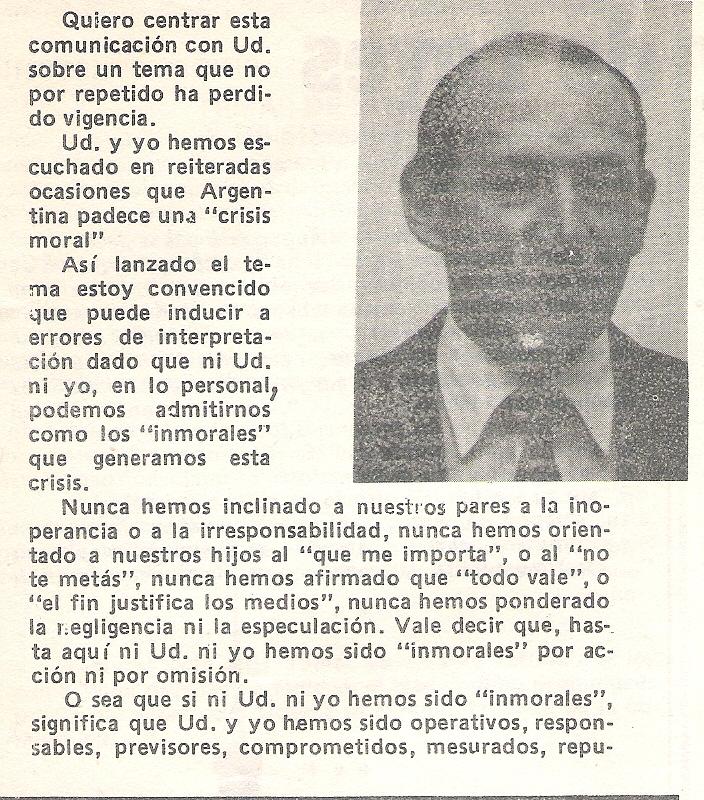 """EDITORIAL DE TRIBUNA MUNICIPAL  """"LA COMUNA AL SERVICIO DEL PUEBLO"""", AÑO I Nº III, de abril de 1984"""