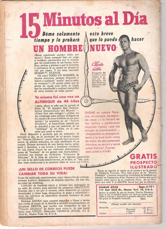 PUBLICIDAD DE DICIEMBRE DE 1962, LA REVISTA TARZAN VALIA $15
