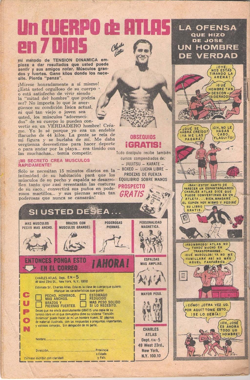 PUBLICIDAD DE LA REVISTA TARZAN DE 1982