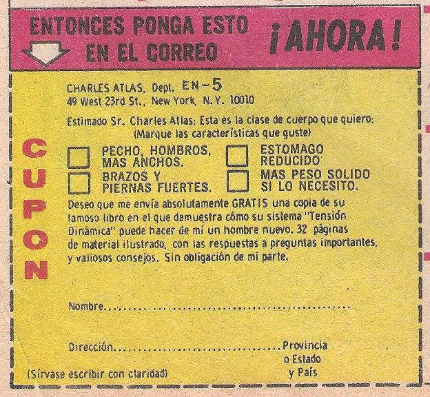 ESTE CUPON ES MAS NUEVO, ES DE UNA REVISTA TARZAN DE 1981, CAMBIO EL 115 EAST POR EL 49 WEST