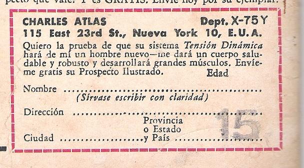 CUPON EN LIMPIO, PERO COMO ES DE 1962 PUEDE HABER VARIADO LA DIRECCION. POR ELLO OS ENVIO UN NUEVO CUPON