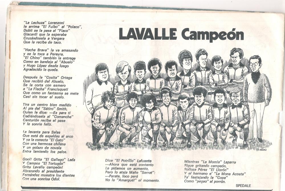LA ÚLTIMA VEZ DEL CLUB ATLÉTICO LAVALLE